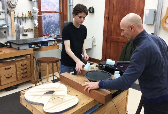 Luthiers Dan and Sean Bresnan